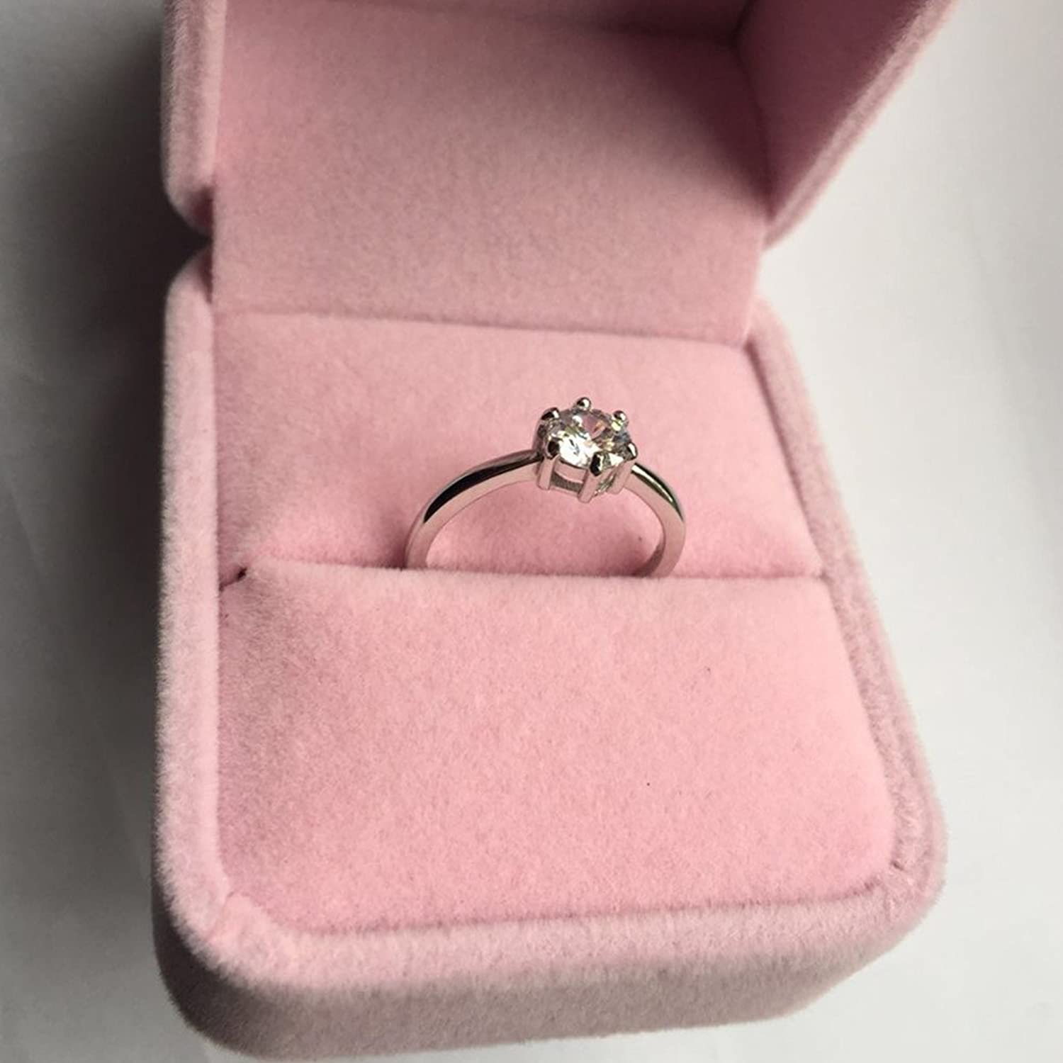 Amazon.com: Anti Allergy Engagement Or Wedding Ring Can Be Resizable ...