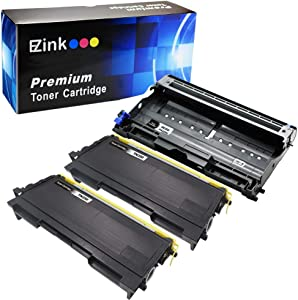 E-Z Ink (TM) Compatible Toner Cartridge Drum Unit Replacements for Brother TN-350 DR-350 to use with Intellifax 2820 Intellifax 2920 HL-2070N HL-2040 DCP-7020 (2 Black Toners 1 Drum Unit, 3 Pack)