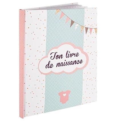 Libro de recuerdo de nacimiento de 56 páginas para niña: Amazon.es: Bebé