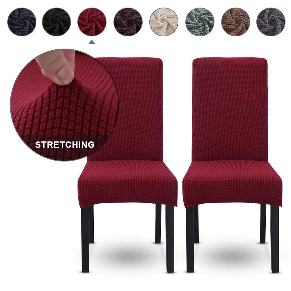 Slipcovers Layopo Dining Chair Covers Seat Slipcovers High Stretch Dining Room Chair Seat Covers Furniture Protector Chair Covers With High Back For Dining Room Hotel Wedding Ceremony Black Home Elektroelement Com Mk