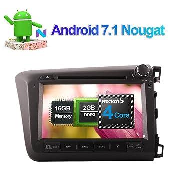 Android 7.1 Quad Core Reproductor de CD DVD estéreo para coche en salpicadero unidad de radio