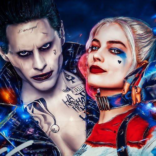 Harley Quinn and Joker Suicide Squad Custom Cushion Cover Batman DC UK SELLER