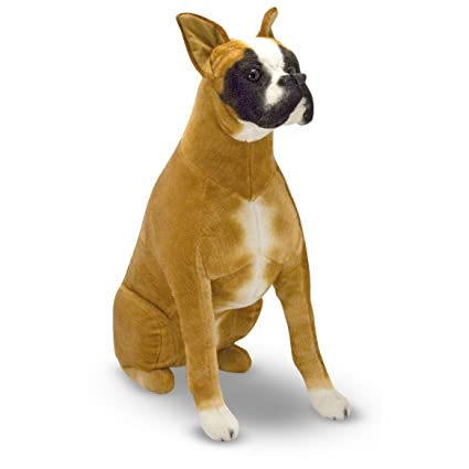 Amazon Com Melissa Doug Giant Boxer Lifelike Stuffed Animal Dog