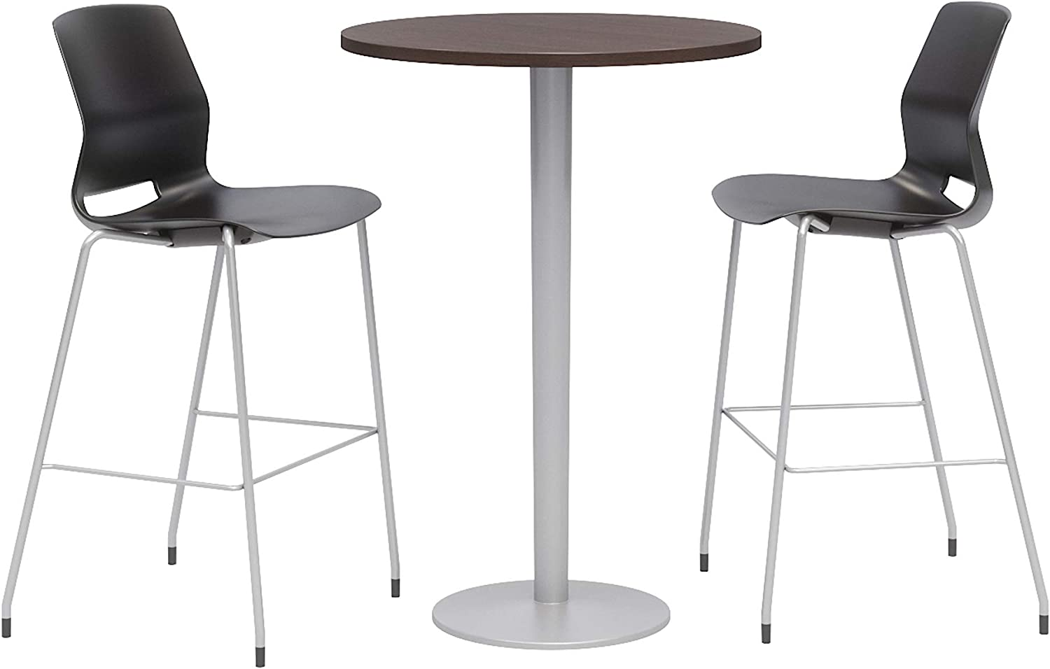 Olio Designs Dining Room Furniture, Espresso Table, Black Stools