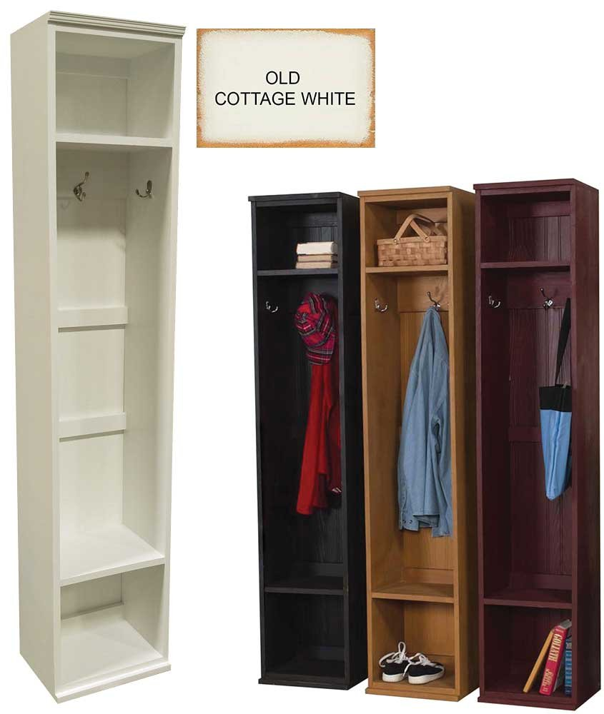 Wood Entryway Locker (Old - Cottage White)