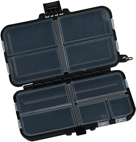 YUJUHEZI Caja De Pesca Doble Cara Pesca De Señuelo Caja De Pesca Caja De La Hebilla Multifuncional Diseño De 9 Compartimentos Caja De Almacenamiento: Amazon.es: Deportes y aire libre