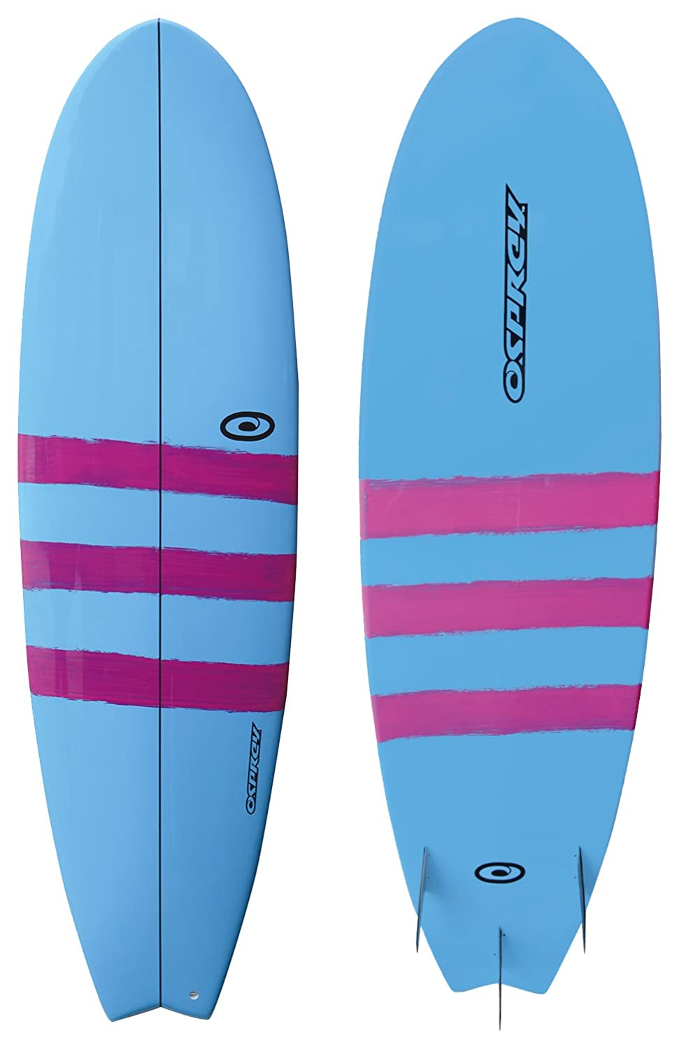 Osprey Unisex epoxi tribanda Peces Tabla de Surf, Color Azul, 6 ft: Amazon.es: Deportes y aire libre