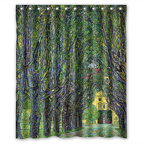 Beeyoo Shower Drape Width X Height / 60 X 72 Inches / W H 150 By 180 Cm(fabric) Nice Choice For Valentine Kids Girl Her Bf Mother. Machine Washable Gustav Klimt Art Painting Polyester ()