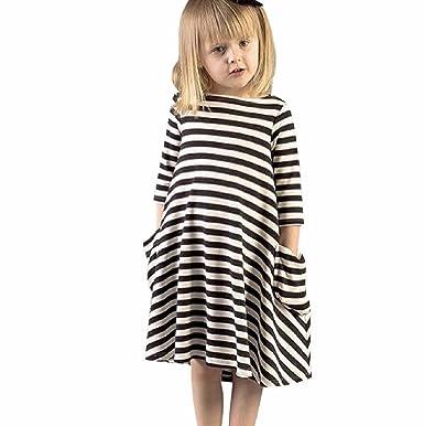 Sannysis Sannysis Mädchen Schwarz weiß gestreiften Kleid Familie ...