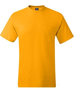 d08ac6c0 Hanes Men's Short-Sleeve Beefy T-Shirt with Pocket | Amazon.com