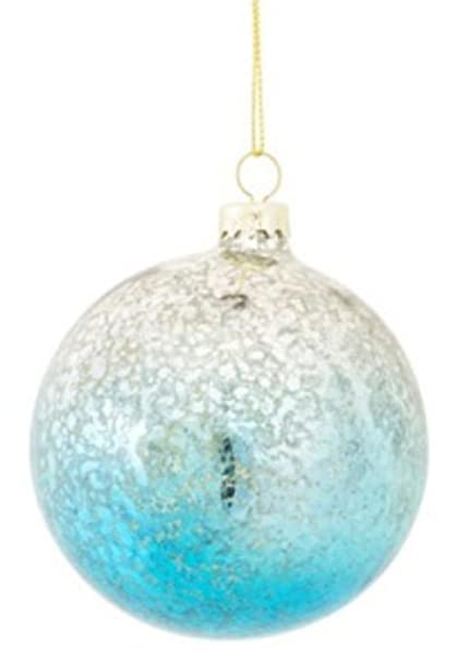 Fade to Blue Mercury Glass Ball Christmas Ornament