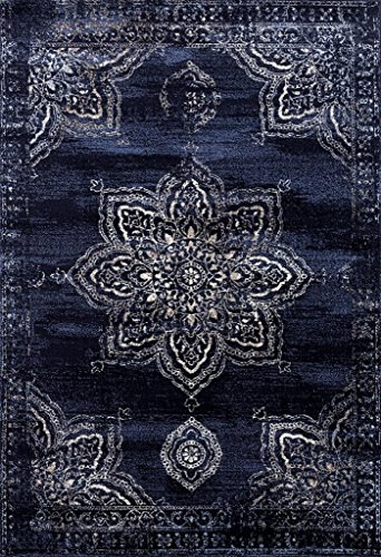 5934 Distressed Navy 8 x 10 Area Rug Carpet Large New