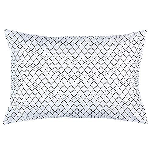 Carousel Designs Onyx Lattice Dots Pillow Case - Organic 100% Cotton Pillow Case - Made in The USA (Lattice Onyx)