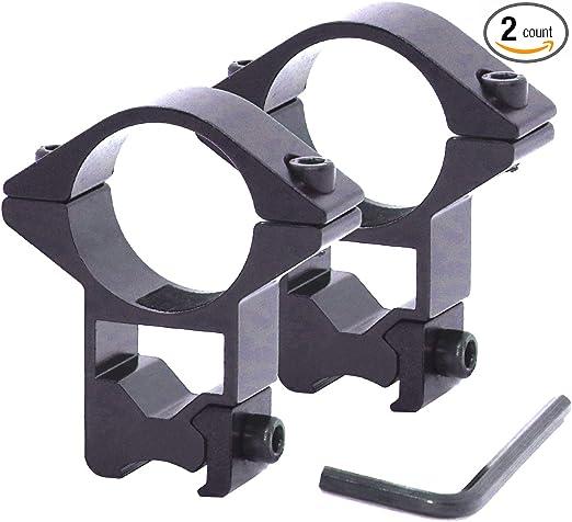 2 pcs 25mm 1 Inch High Profile Ring Scope Weaver Rail Mount 20mm Picatinny ^F