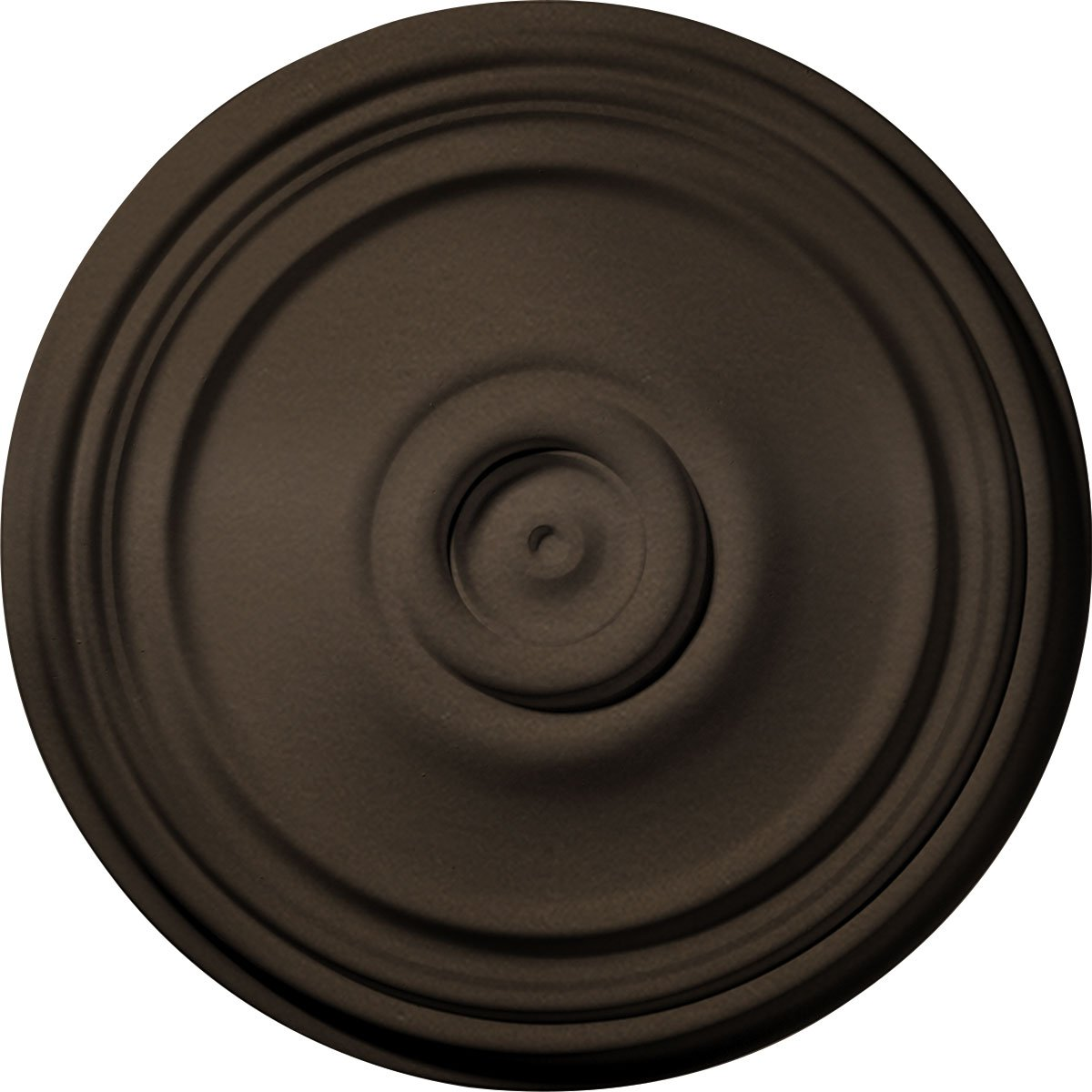 Ekena Millwork CM21REBZS 21'' OD x 1 1/4'' P Reece Ceiling Medallion (fits Canopies up to 6 3/4''), Bronze