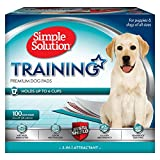 Simple Solution Dog Training and Puppy Pads, Large - 100-Count