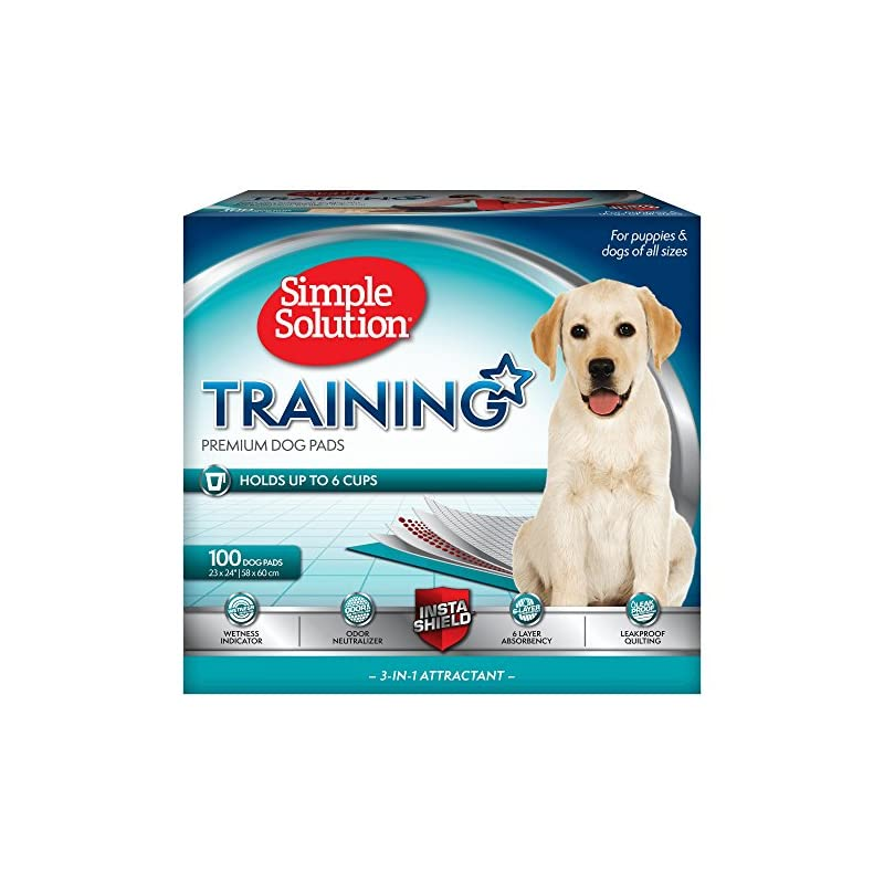 dog supplies online simple solution training puppy pads | 6 layer dog pee pads, absorbs up to 6 cups of liquid | 23x24 inches, 100 count
