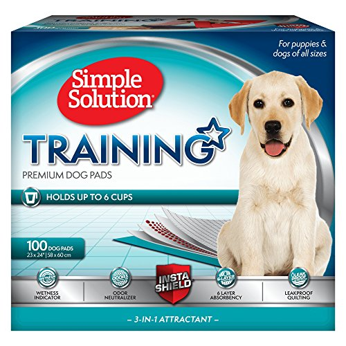 Simple Solution Dog Training and Puppy Pads, Large - 100-Count (Simple Solution Economy Puppy Training Pads)