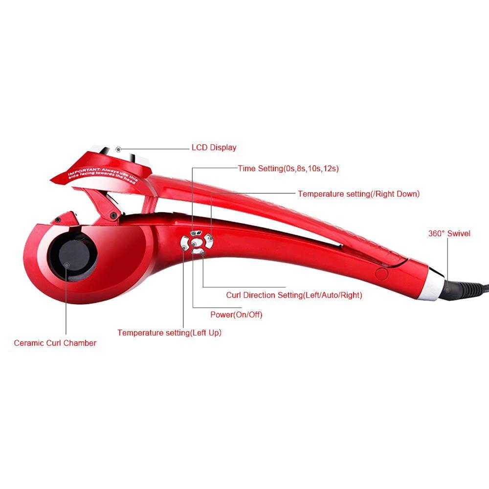 Foshan mingze Pro pantalla LCD rizador de pelo automático pinzas Curling Rizador Pelo Pinzas Herramienta Eléctrica Magic rizadores para el cabello: ...