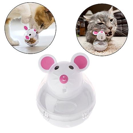 Longsw dispensador de Comida para Mascotas Perro Perro Gato Taza Drôle de plástico contenedor (Color
