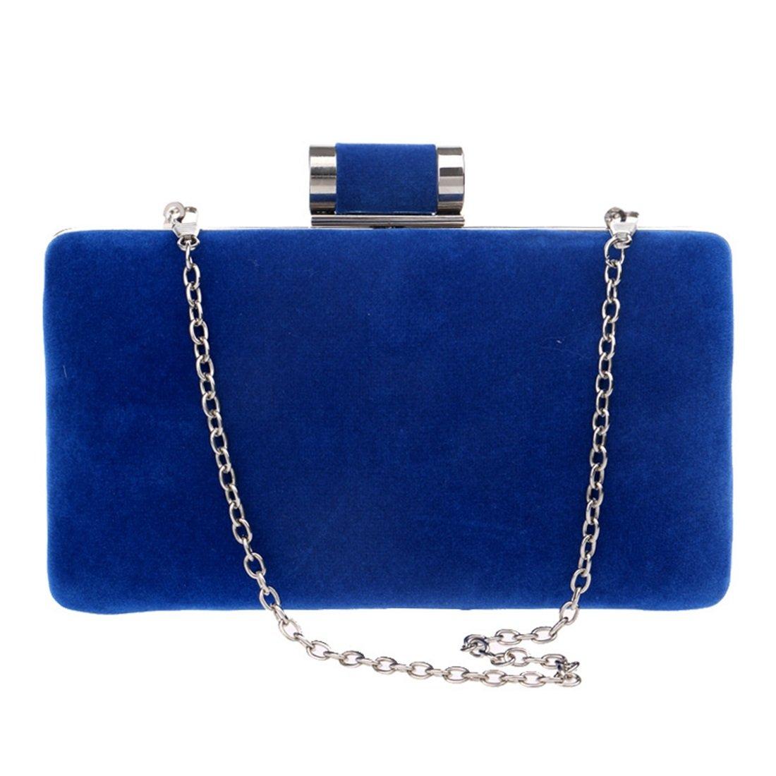 Jiuyizhe Damen Wildleder Clutch Handtasche Handtasche Handtasche Abendtasche Handtasche Crossbody Umhängetasche (Farbe   Blau) B07L2MFSGG Clutches Bestellung willkommen 651814