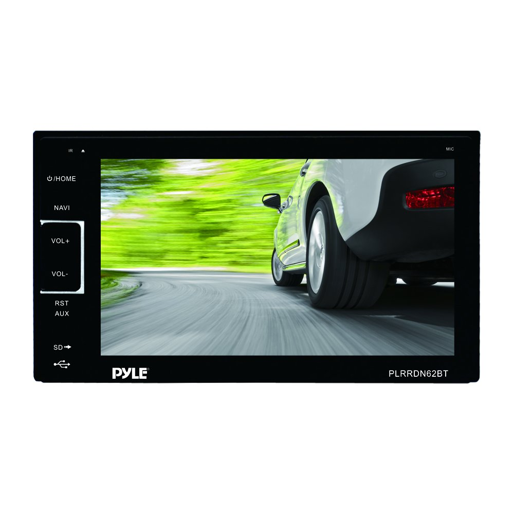 USB//SD Readers Pyle PLRDN62BT 6.5-Inch Bluetooth Touch Screen Stereo Receiver Radio Headunit AUX//MP3 Input and Double DIN Sound Around