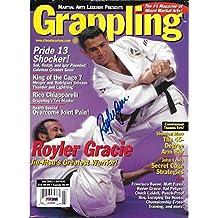 Royler Gracie Signed July 2001 Grappling Magazine COA UFC Pride FC 2 8 - PSA/DNA Certified - Autographed UFC Magazines