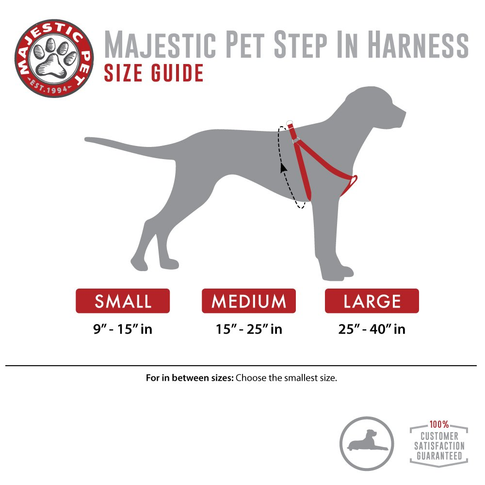 Majestic Pet Best Step In Dog Harness-Perfect For All Sized Dogs Small Medium & Large Heavy Duty Material- Adjustable For Training & Walking-25X40 Green by Majestic Pet (Image #5)