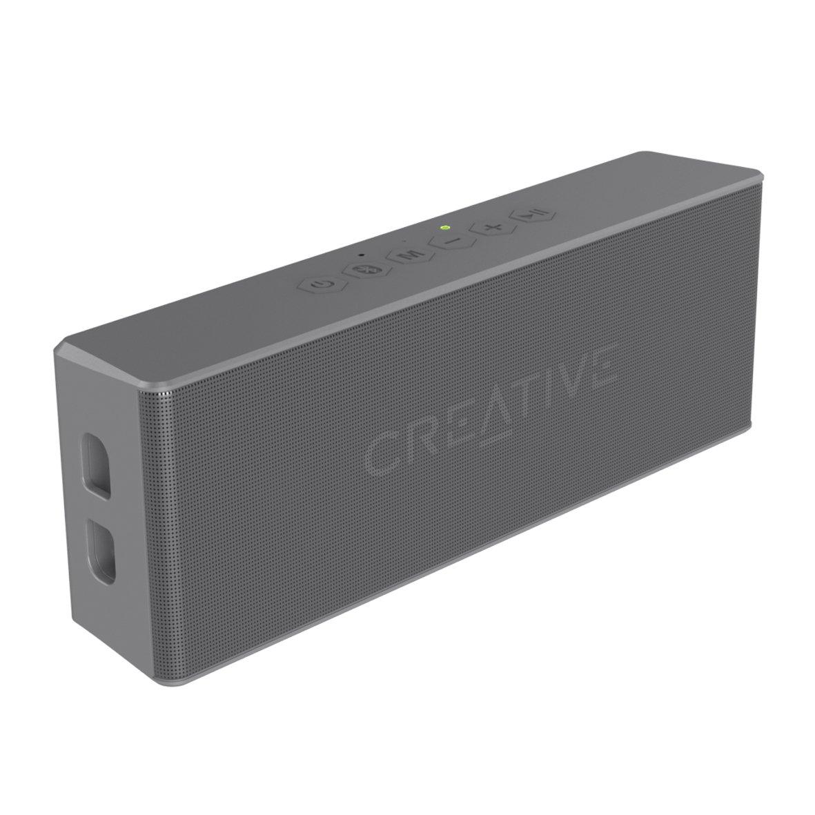 CREATIVE MUVO 2 Altoparlante Bluetooth, Potente, Resistente agli Spruzzi, Nero 51MF8255AA000