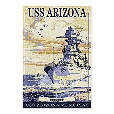 USS Arizona Battleship - Sunset Scene (Premium 1000 Piece Jigsaw Puzzle for Adults, 20x30, Made in USA!): Toys & Games