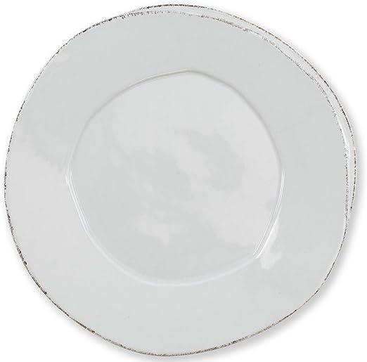 Vietri Lastra Gray Dinner Plate Set of 4
