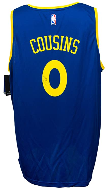 new product 80ca6 34eff DeMarcus Cousins Signed Golden State Warriors Blue Fanatics ...