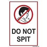 Clickforsign DONO-SPIT-SB-84 Do Not Spit Sign Board