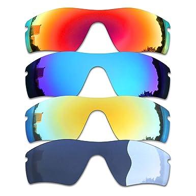 SOODASE Para Oakley Radar Path Gafas de sol Rojo/Azul/Dorado ...