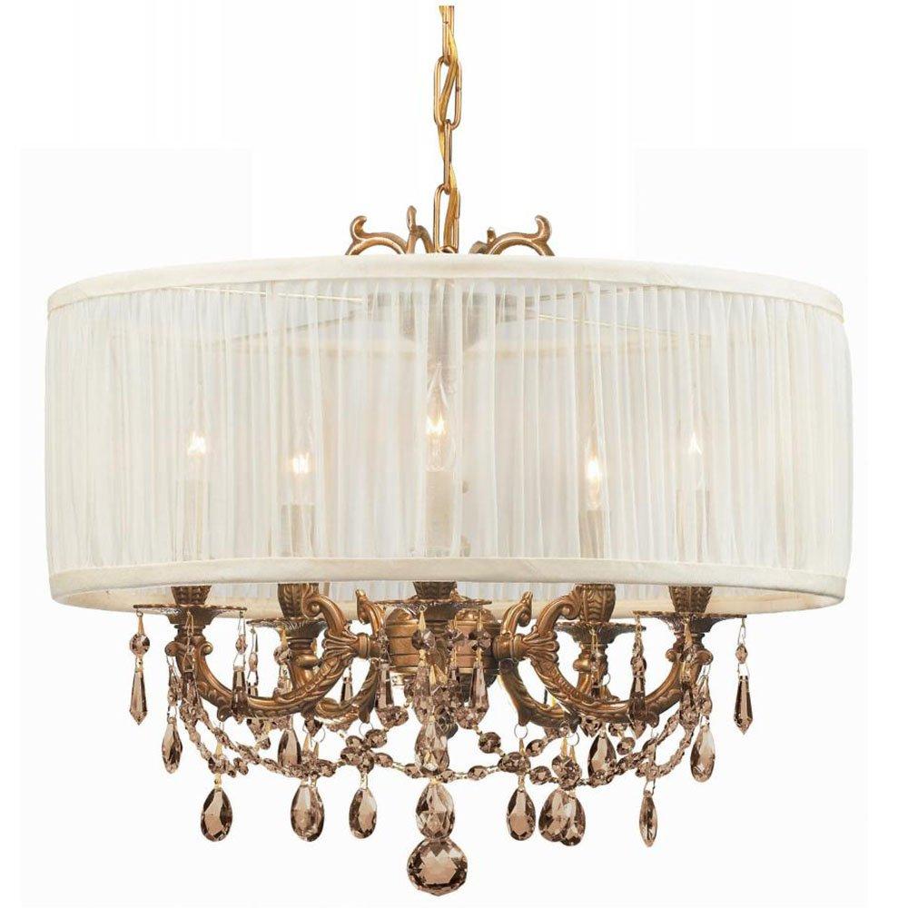 Amazon.com: crystorama iluminación 5535-ag-saw-gts – Lámpara ...