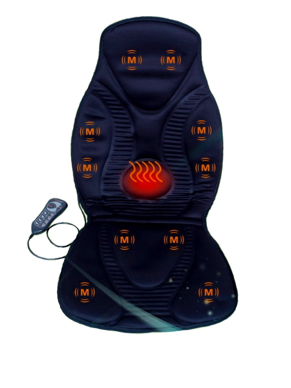vibration massage seat cushion with heat neck shoulder back thigh massager ebay. Black Bedroom Furniture Sets. Home Design Ideas