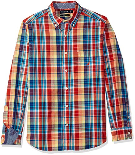 Nautica Men's Plaid Button Down Shirt