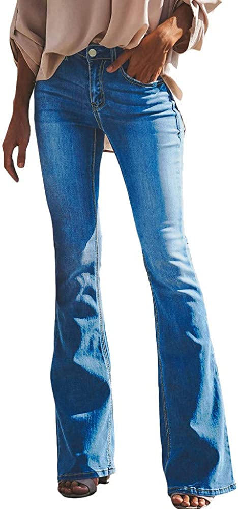 PRINCER - Pantalones Vaqueros con Botones, Cintura Alta, elásticos ...