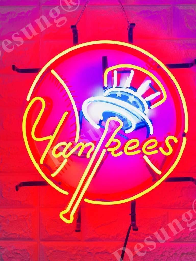 Desung 20''x16'' New York Sports League NY Yankee Neon Sign Light (MultipleSizes) HD Vivid Printing Tech Handmade Man Cave Beer Bar Pub Lamp VD25