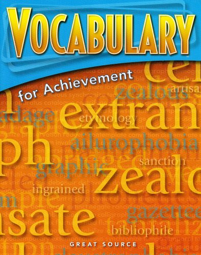 Great Source Vocabulary for Achievement: Student Edition Grade 7 First Course 2006
