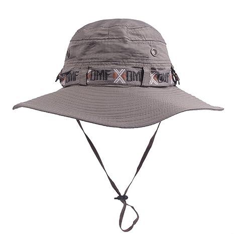 78997d788f06f AGGF Sombrero de Verano para Hombres y Mujeres Sombrero Ancho Gorras de  Pesca a Prueba de