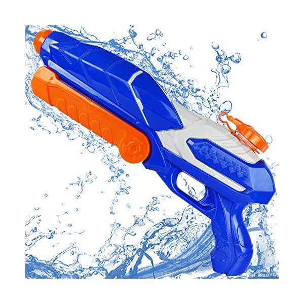MOZOOSON Pistola ad Acqua Giocattolo per Bambini, Potente Pistola ad Acqua con capacità di umidità 650ML   Pistola a… 1 spesavip