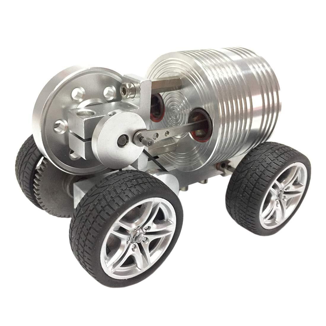 B 1cm Poxl Stirlingmotor Auto, Stirlingmotor Bausatz Metall Pädagogisches Spielzeug für Geburtstagsgeschenk Kinder und Technikbegeisterte