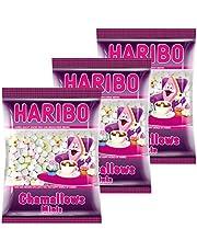 Haribo Chamallows Minis, Set of 3, Foam Sugar, Marshmallows, Mauses Peck 3Pack 200g