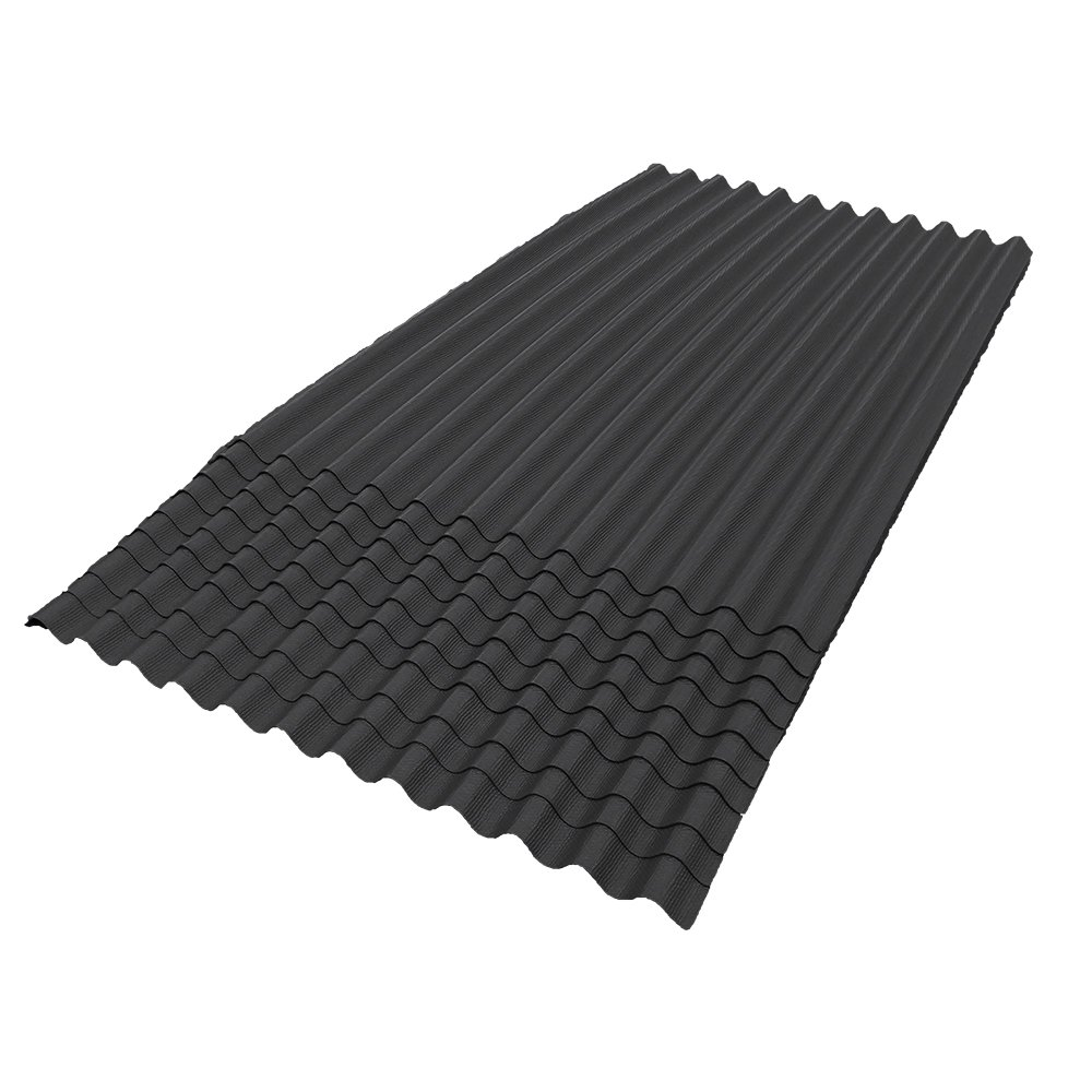 ONDURA 106 Corrugated Asphalt Roofing (10-Pack), Black