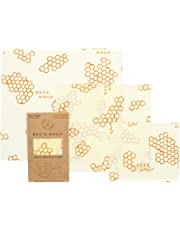 Bee's Wrap Set of 3 Assorted Size Wraps, Beige