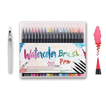 Amazon.com: Watercolor Brush Pens Set - Premium Soft Flexible Dual ...