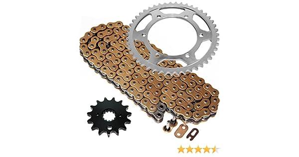Caltric Golden O-Ring Drive Chain /& Sprockets Fits YAMAHA YZF600R YZF-600R YX600R YZ600R 1995-2007
