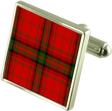 Select Gifts Tartan Clan MacDougall Sterling Silver Cufflinks