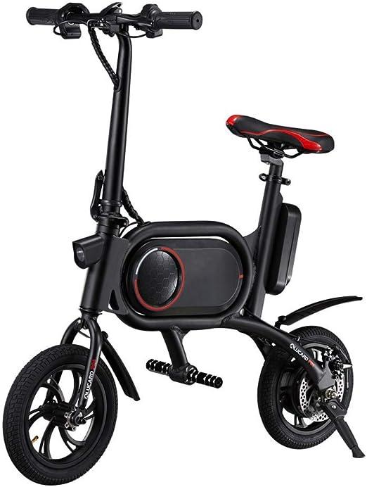 LHSUNTA Bicicleta eléctrica Plegable Bicicleta eléctrica Ligera y ...